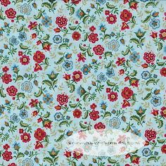 Feel Free To Use Them In All Your Personal Scrapbooking And Art Projects Vibrant Blue Multi Large And Small Floral Print