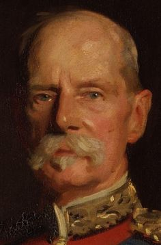 John Singer Sargent, Frederick Sleigh Roberts, First Earl Roberts - close up within the painting.