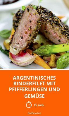 Argentinisches Rinderfilet mit Pfifferlingen und Gemüse - smarter - Zeit: 15 Min. | eatsmarter.de