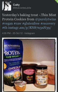 protein thin mints with Arbonne vegan chocolate protein