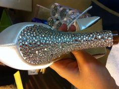 diy rhinestone shoes.. I am doing this, yep, I am! I have a pair of shoes I bought that are very similar... can't wait to try others.