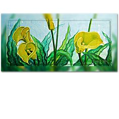 Yellow Cala Lily in all its splendor. A multimedia painting depicting the glorious, rich yellow colors from the Cala Lily. Original Oil Painting, Fine Art, Starry Night, Painting, Oil Painting, Starry, Art, Pictures, Color