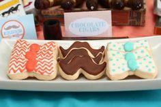Mustache and bow tie cookies #mustache #cookies #bowtie