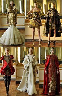 Alexander McQueen Fall 2010 l Ready-to-wear l Womenswear l Women fashion runway look outfit Couture Fashion, Fashion Art, Runway Fashion, High Fashion, Fashion Outfits, Womens Fashion, Fashion Design, Medieval Fashion, Fantasy Dress