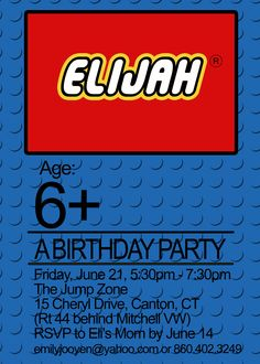 lego party invitations - Google Search