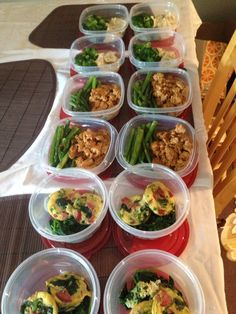 Meal prep for the week! Make your meals ahead of time to stay prepared.