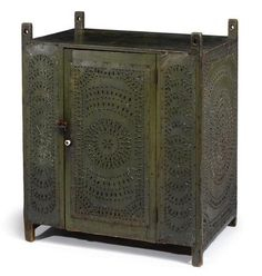 Punched Tin Hanging Pie Safe