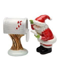 Love this Mail for Santa Salt & Pepper Shakers on #zulily! #zulilyfinds