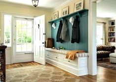 Entry hall ideas decor country entryway bench foyer design images antique traditional with windows on paint . Hall Tree Storage Bench, Small Entryway Bench, Country Entryway, Bench With Storage, Storage Ideas, Shoe Storage, Foyer Design, Entry Way Design, Hall Colour