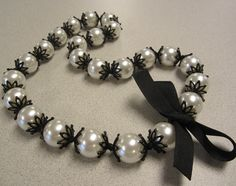 Diy Kate spade inspired pearl necklace