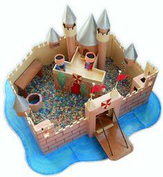 papelustro: Cardboard castle _ Castelo de cartão