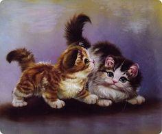 Il mondo di Mary Antony: Dipinti cinesi ad olio di gatti