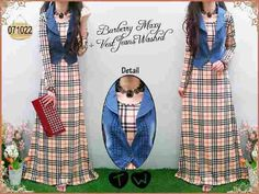 Maxi Burbery Dan Vest Jeans Washed 071022 R605, Ready Stock, Untuk pemesanan dan informasi silahkan hubungi Admin di:  HP/WhatsApp: 085259804804