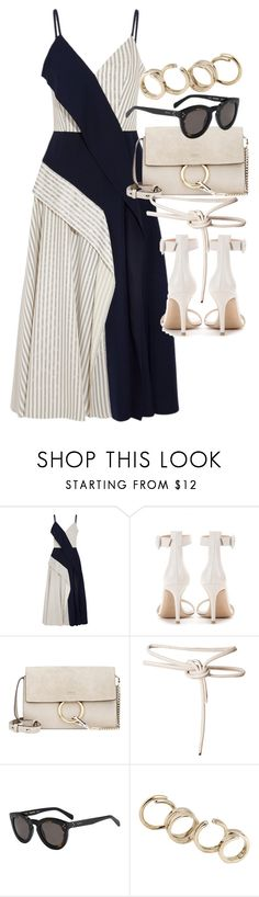 """""""Untitled #21130"""" by florencia95 ❤ liked on Polyvore featuring Adeam, Gianvito Rossi, Chloé, Leka and Jil Sander"""