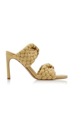 Leather Shorts, Leather Sandals, Nude Heels, Stiletto Heels, Bottega Veneta, Beautiful Shoes, Shoe Boots, Women's Shoes, Heeled Mules