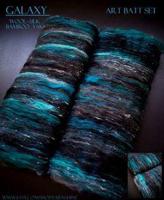 Made to Order: GALAXY Art Batt Set for von YARNSHINE auf Etsy