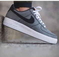 lowest price 96a98 1852d Air Force 1 s - Grey, Black w  White Sole Nike Shoes Outlet, Running