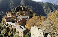 saint martin du canigou abbey in the pyrenees