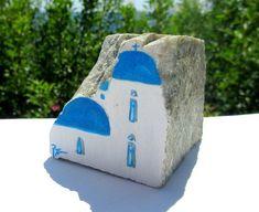 Arte de la roca original pintado a mano piedras OOAK pintado rocas piedra Casa Decor guijarro escena artística envío gratis