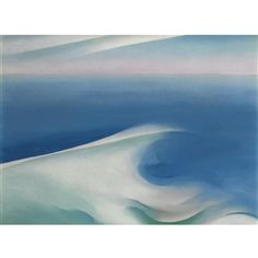 Georgia O'Keeffe, Blue Wave Maine, oil on canvas, private collection. Provenance The Intimate Gallery, New York Helene Fraenkel, New York, 1927 (sold: Sotheby Parke Bernet, New York, December 4, 1980, lot 151, illustrated in color) Acquired by the present owner at the above sale