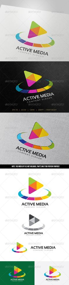 Active Media Logo — Vector EPS #music #pixel • Available here → https://graphicriver.net/item/active-media-logo/5723487?ref=pxcr