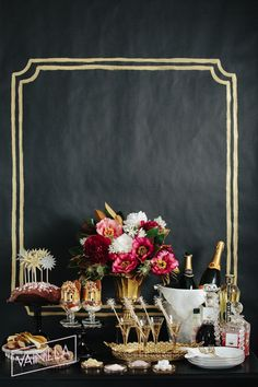 Black and Gold Wedding. #Pinterestfavorite #VainillaWedding