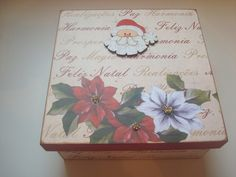 Caixa de MDF, em Scrap Book - Tema Natal