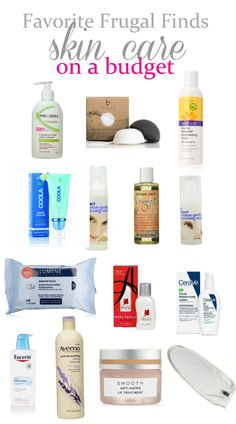 Favorite Frugal Finds skin care. Find the best skin care and beauty products on a budget.