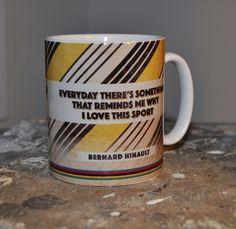Retro Cycling Mug - Bernard Hinault #cycling #gift #home #mug #retro