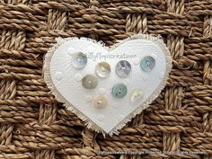 Gorgeous faux leather and mother of pearl brooch.