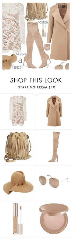 """""""COOL BOHO NEUTRAL"""" by shoaleh-nia ❤ liked on Polyvore featuring self-portrait, Boohoo, Patricia Nash, Kendall + Kylie, Eugenia Kim, Full Tilt and tarte"""