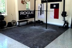 We would totally work out in this home garage gym - wouldn't you?