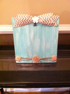 Coastal Beach Decor - Coastal Picture Frame - Seaside Picture Frame - Coastal Home Decor - Distressed Beach Frame - Seashell Decor - Gift
