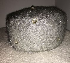 VTG Clover Lane Pillbox Hat Silver Tinsel Rhinestone Accents 50's 60's EUC 7 Med | Clothing, Shoes & Accessories, Vintage, Vintage Accessories | eBay!
