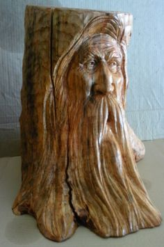 Tree Stump Carving  by Greg Hand