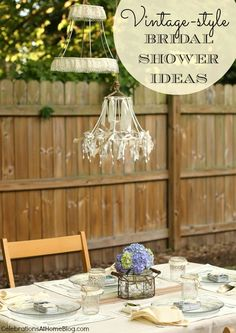 VINTAGE STYLE BRIDAL SHOWER IDEAS #bridalshower #vintage #party