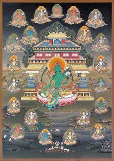 Tibetan Art, Tibetan Buddhism, Tara Goddess, Joker Iphone Wallpaper, Green Tara, Gautama Buddha, Buddha Art, Drawing Projects, Fine Art Prints