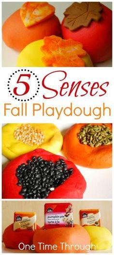 5 Senses Fall Playdough