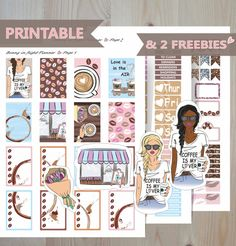 FEBRUARY weekly Sticker Kit,Valentine\'s day Printable weekly sticker kit,Coffee Lover Happy Planner Sticker kit,February planner sticker kit