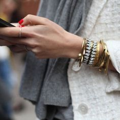 "@yourfashionfix's photo: ""Classic red nails and chic jewellery compliment this gorgeous white jacket so well. Classy!!"""