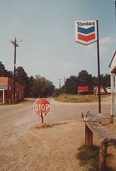 Eggleston (Untitled Stop Sign in Middle of Road from Los Alamos Project)