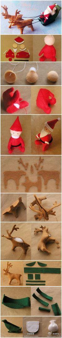 Santa and his Christmas sleigh... Adorable.