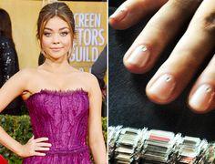 Sarah Hyland SAG Awards Nail Art #manicuremonday