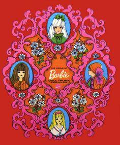 ilustration Vintage Vinyl Barbie Doll Cases by - Barbie Doll Case, Barbie Box, Vintage Barbie Dolls, Barbie House, Barbie And Ken, Barbie Party, Girls Dollhouse, Dollhouse Dolls, Barbie Accessories