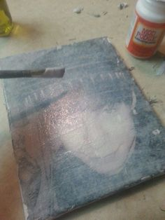 I have seen lots and lots and lots of photo to canvas transfers. The majority of these transfers call for a gel medium which runs about $13…. NOPE! It also calls for 12 hours of drying. &#822…