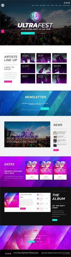 Kentha is a clean and modern design responsive #WordPress theme for #music, artists, #DJ, musicians, singers and #bands visionary website with 30 niche homepage layouts to download & live preview click on image or Visit  #webdesign