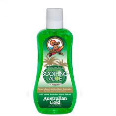 This Australian Gold Soothing Aloe Gel is an oil-free gel you should really always have with you on holiday. If your skin is slightly burnt after a day at the beach, a little irritated or feels tight, this gel is the perfect solution. Cools, refreshes and softens the skin. Contains Aloe Vera, green tea extracts, Acacia extract, vitamin C, vitamin E and powerful anti-oxidants. Can also be used after a tanning session. Tip: store in the fridge for an even more cooling effect. 237ml