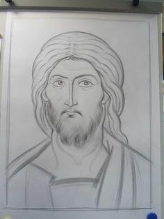 Photo Religious Images, Religious Icons, Religious Art, Byzantine Art, Byzantine Icons, Writing Icon, Jesus Drawings, Christ Pantocrator, Art Icon