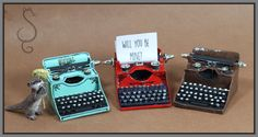A miniature typewriter tutorial.  This little typewriter is mostly made out of paper and some bits you might have laying around if you sew. I had a  delay to getting this tutorial done.  I had take…