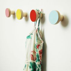 Wooden Wall Hooks - modern - hooks and hangers - chocolate creative #littlenest #pinparty
